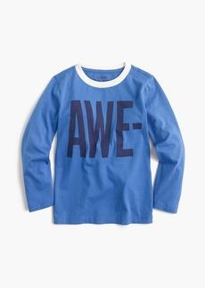 "J.Crew Boys' long-sleeve ""awesome"" T-shirt"