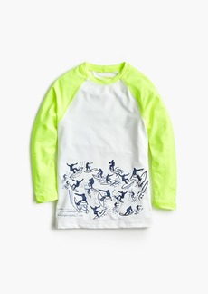 J.Crew Boys' long-sleeve color block rash guard with surfer