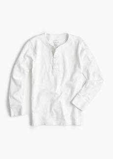 J.Crew Boys' long-sleeve garment-dyed henley shirt
