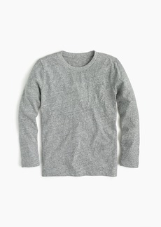 J.Crew Boys' long-sleeve pocket T-shirt in the softest jersey