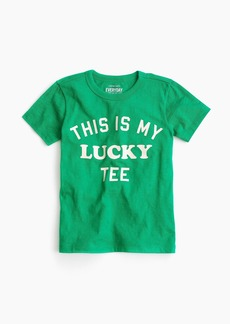 "J.Crew Boys' ""lucky"" T-shirt"