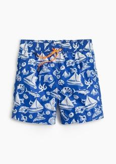 J.Crew Boys' marine-print swim trunk