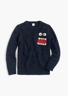 J.Crew Max the Monster™ boys' cotton crewneck sweater