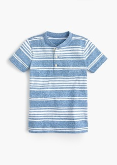 J.Crew Boys' short-sleeve striped henley shirt in the softest jersey