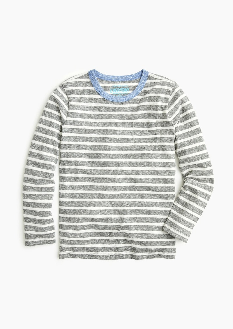 279ee16ae J.Crew Boys' striped long-sleeve T-shirt in the softest jersey | Tshirts