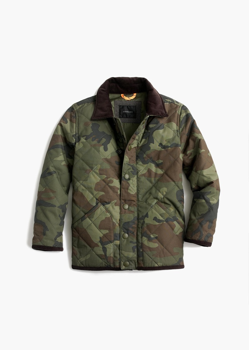 d65ffb9abee3 J.Crew Boys  Sussex quilted jacket in camo Now  51.09