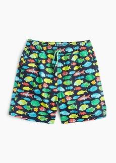 J.Crew Boys' swim trunk in tropical fish