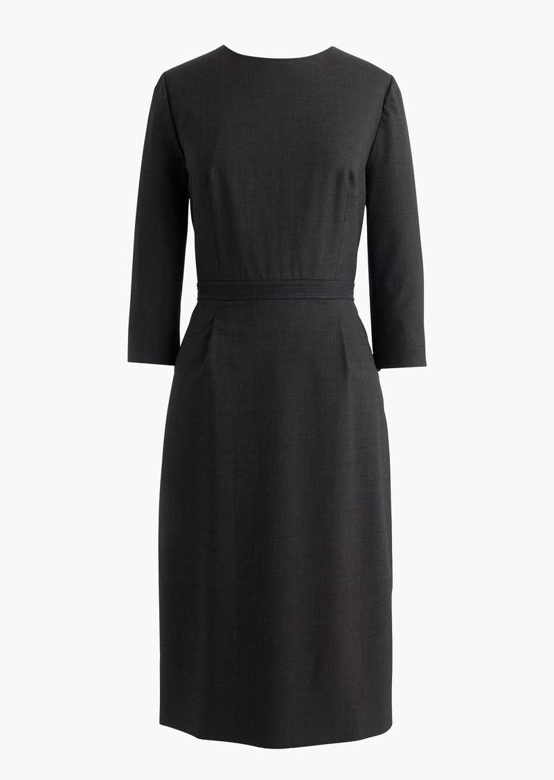 J.Crew Bracelet-sleeve dress in Italian stretch wool