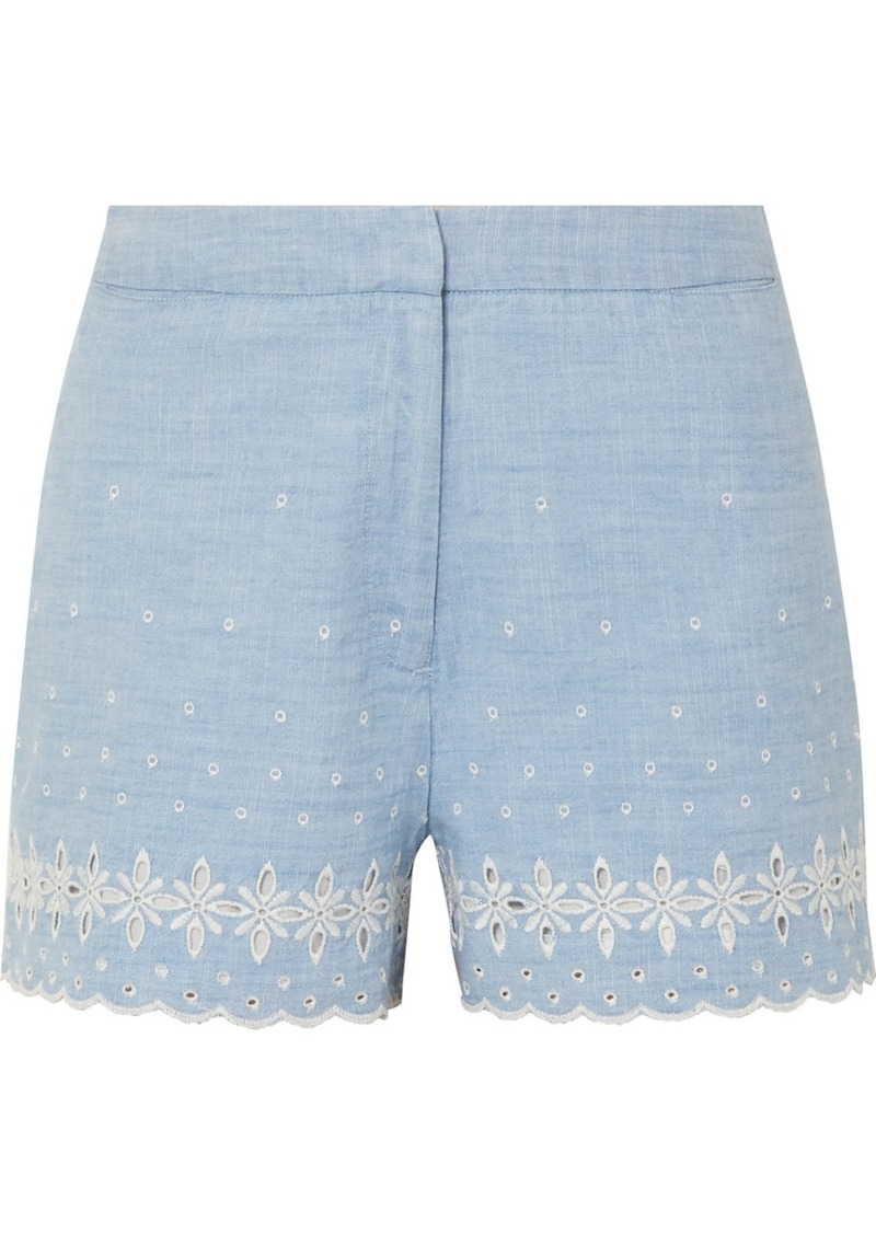 J.Crew Broderie Anglaise Cotton-chambray Shorts