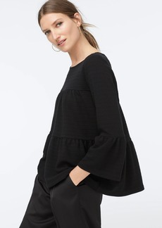 J.Crew Button-back tiered bell-sleeve top