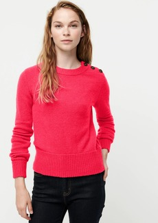 J.Crew Button-detail crewneck sweater in supersoft yarn