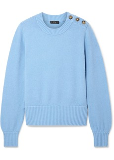 J.Crew Button-detailed Knitted Sweater