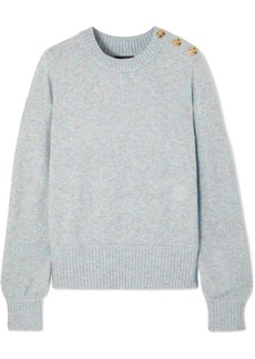 J.Crew Button-detailed Mélange Knitted Sweater