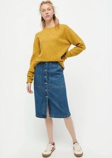J.Crew Button-fly cargo denim skirt in medium indigo wash