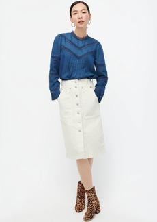 J.Crew Button-fly cargo denim skirt in white wash