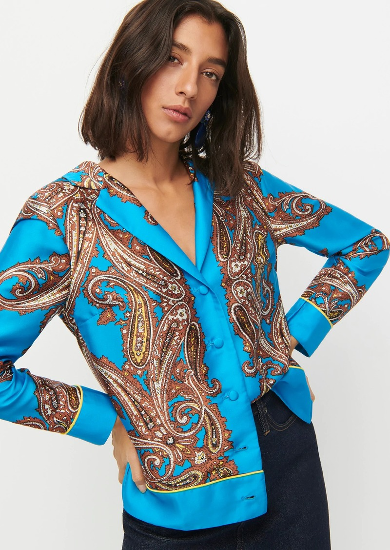 J.Crew Drapey button-up shirt in paisley print