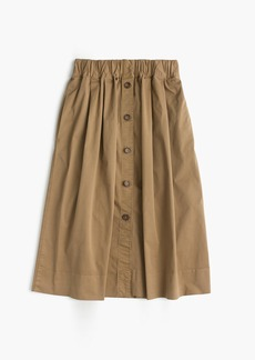 J.Crew Button-front chino skirt