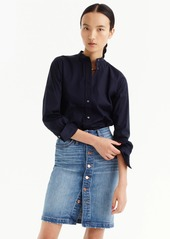 J.Crew Button-front denim skirt