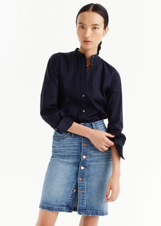 J.Crew Button-front denim skirt