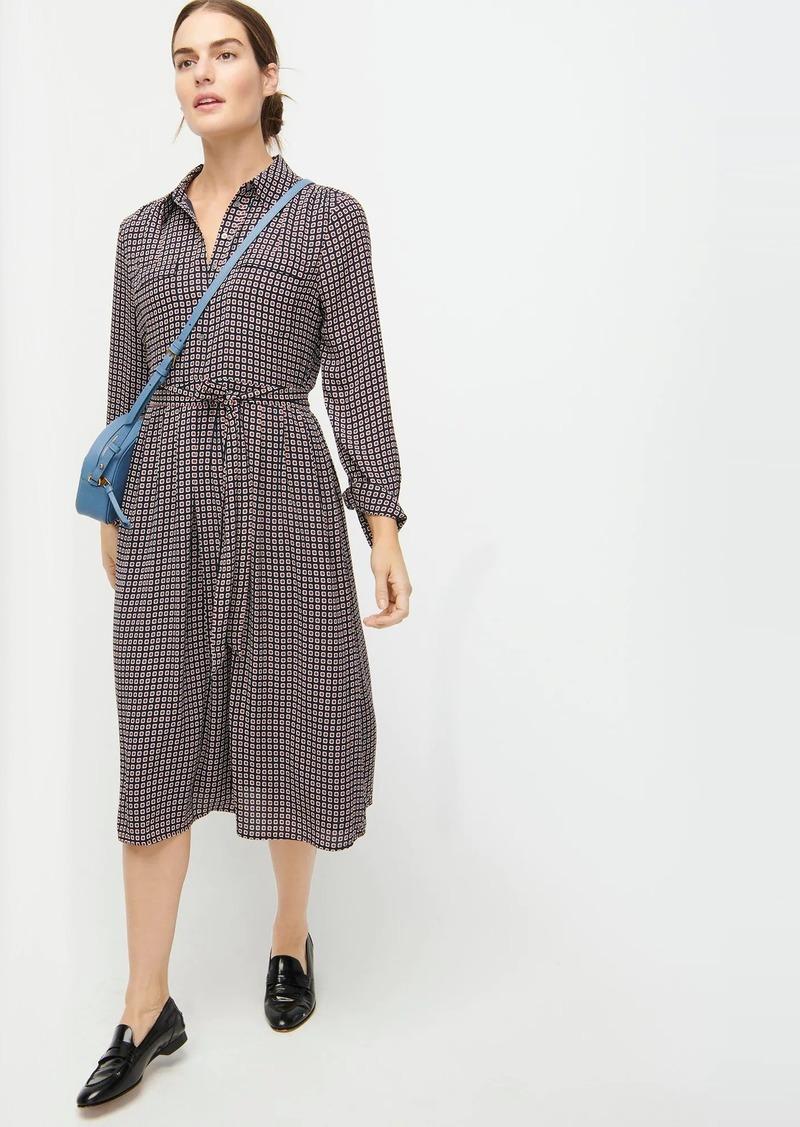 J.Crew Button-front dress in geometric print