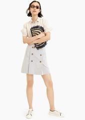 J.Crew Button-front mini skirt in stretch seersucker