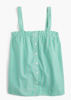 J.Crew Button-front ruffle top