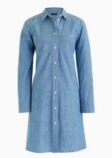 J.Crew Button-up dress in indigo chambray