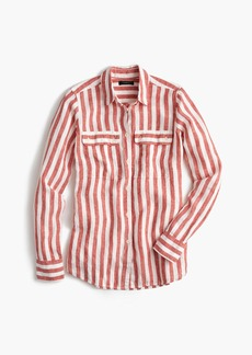 J.Crew Button-up shirt in striped linen