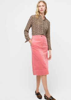 J.Crew Buttoned skirt in corduroy