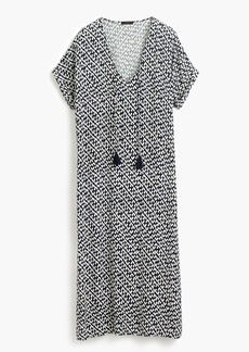 J.Crew Caftan in abstract heart print