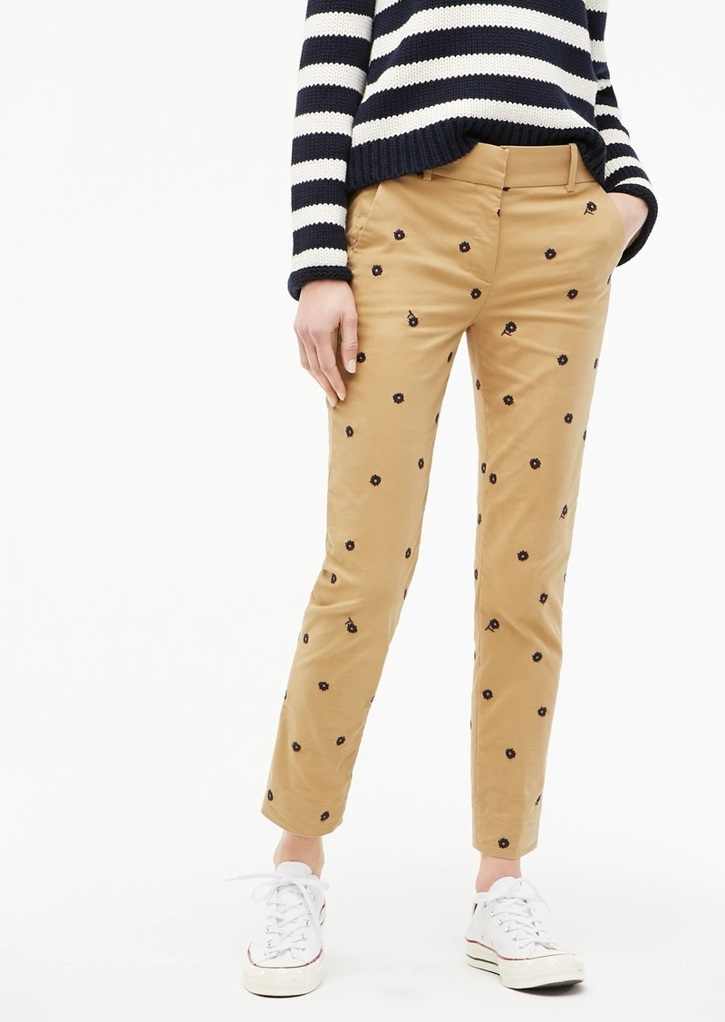 J.Crew Cameron pant in embroidered sateen chino