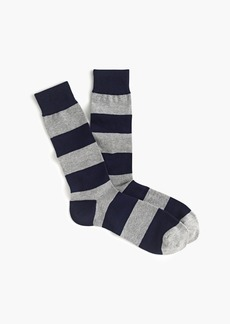 J.Crew Wide stripe socks