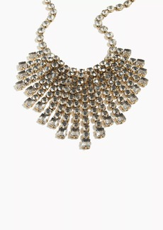 J.Crew Cascading crystal necklace
