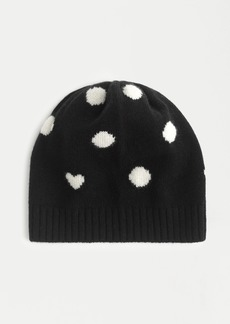 J.Crew Cashmere beanie in heart dot