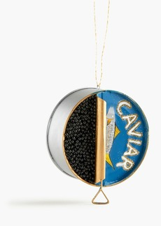 J.Crew Caviar tin ornament