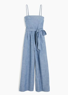 J.Crew Chambray jumpsuit with tie