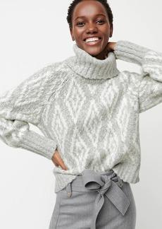J.Crew Chunky alpaca turtleneck sweater in Fair Isle diamonds