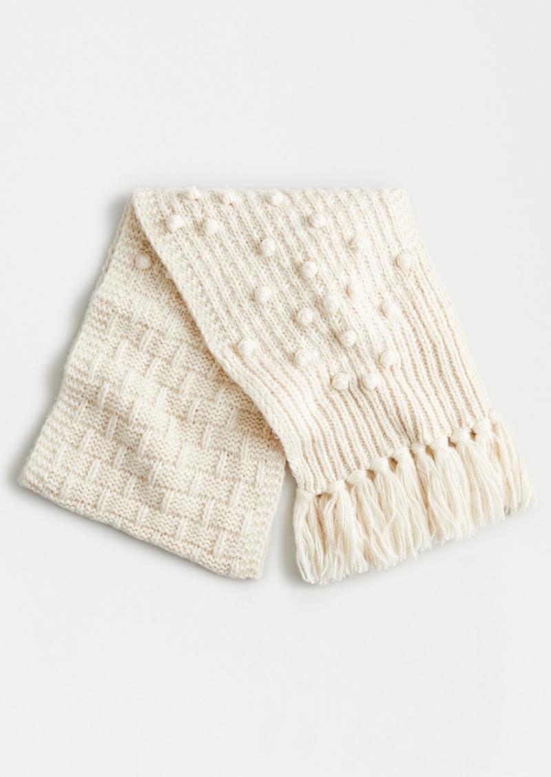 J.Crew Chunky knit bobble scarf