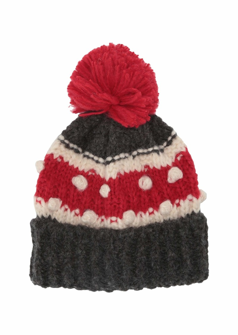 J.Crew Chunky Striped Bobble Hat