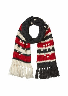 J.Crew Chunky Striped Bobble Scarf
