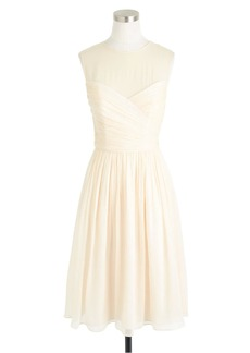 J.Crew Clara dress in silk chiffon