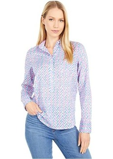 J.Crew Classic Popover Shirt in Field Day Chevron