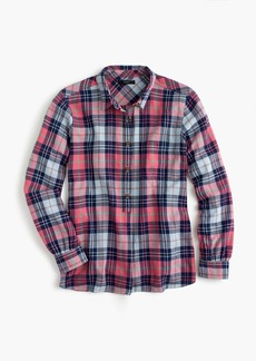Classic popover shirt in smoky coral plaid