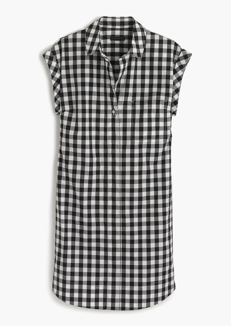 J.Crew Classic short-sleeve shirtdress in gingham