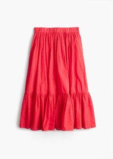 J.Crew Clip-dot tiered skirt