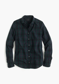 J.Crew Club-collar perfect shirt in Black Watch plaid
