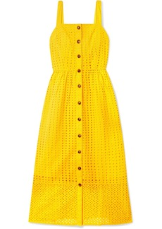 J.Crew Coletta Broderie Anglaise Cotton-voile Midi Dress