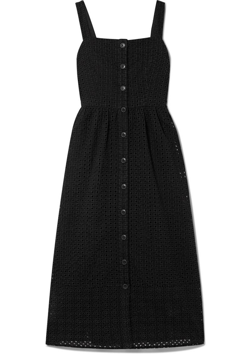 J.Crew Coletta Broderie Anglaise Cotton-voile Midi Dress