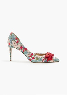 Colette bow pumps in liberty® poppy and daisy floral