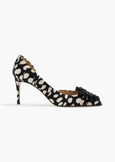 J.Crew Colette flower pumps in Ratti® polka dot